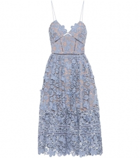 Lace lilac dress with bustie